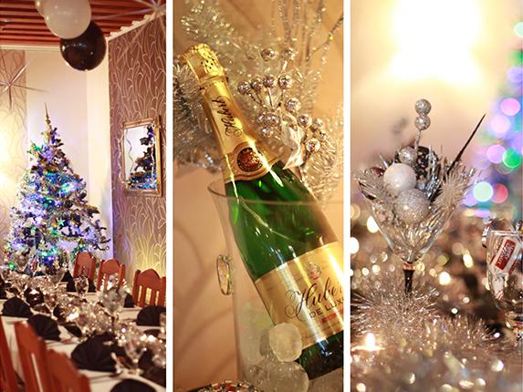 Výzdoba party oslavy na Silvestra