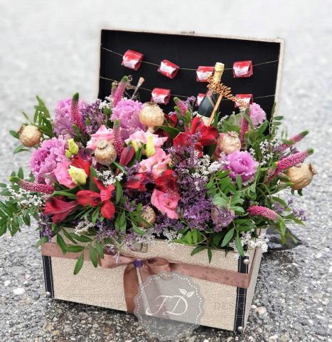 narodeninový kvetinový box